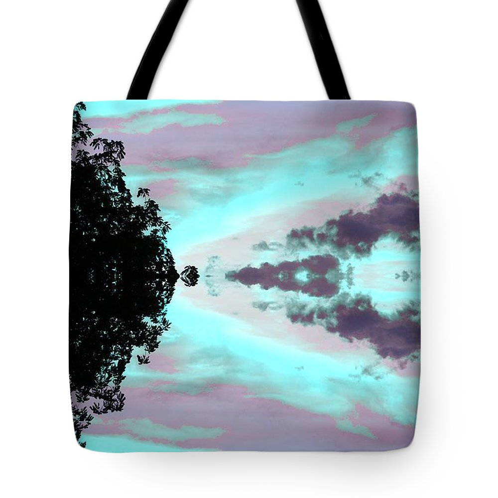 Turquoise Diamonds In The Sky Tote Bag featuring the mixed media Turquoise Diamonds In The Sky by Connie Ann LaPointe