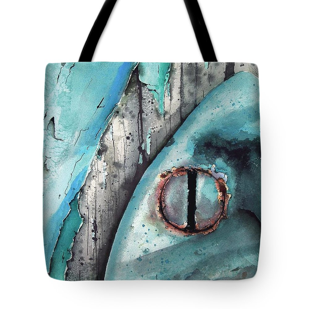 Paint Tote Bag featuring the painting Turquoise Paint by Sam Sidders