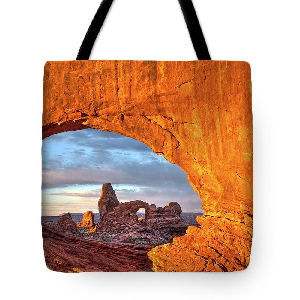 Tote Bag featuring the photograph Turret Arch 3 by Paul Basile