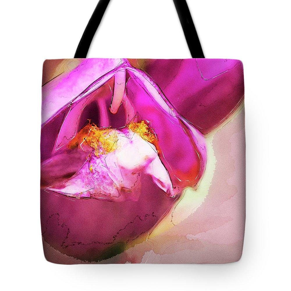 Balmony Tote Bag featuring the digital art Turtle Head Digital 1 by Bob Corson