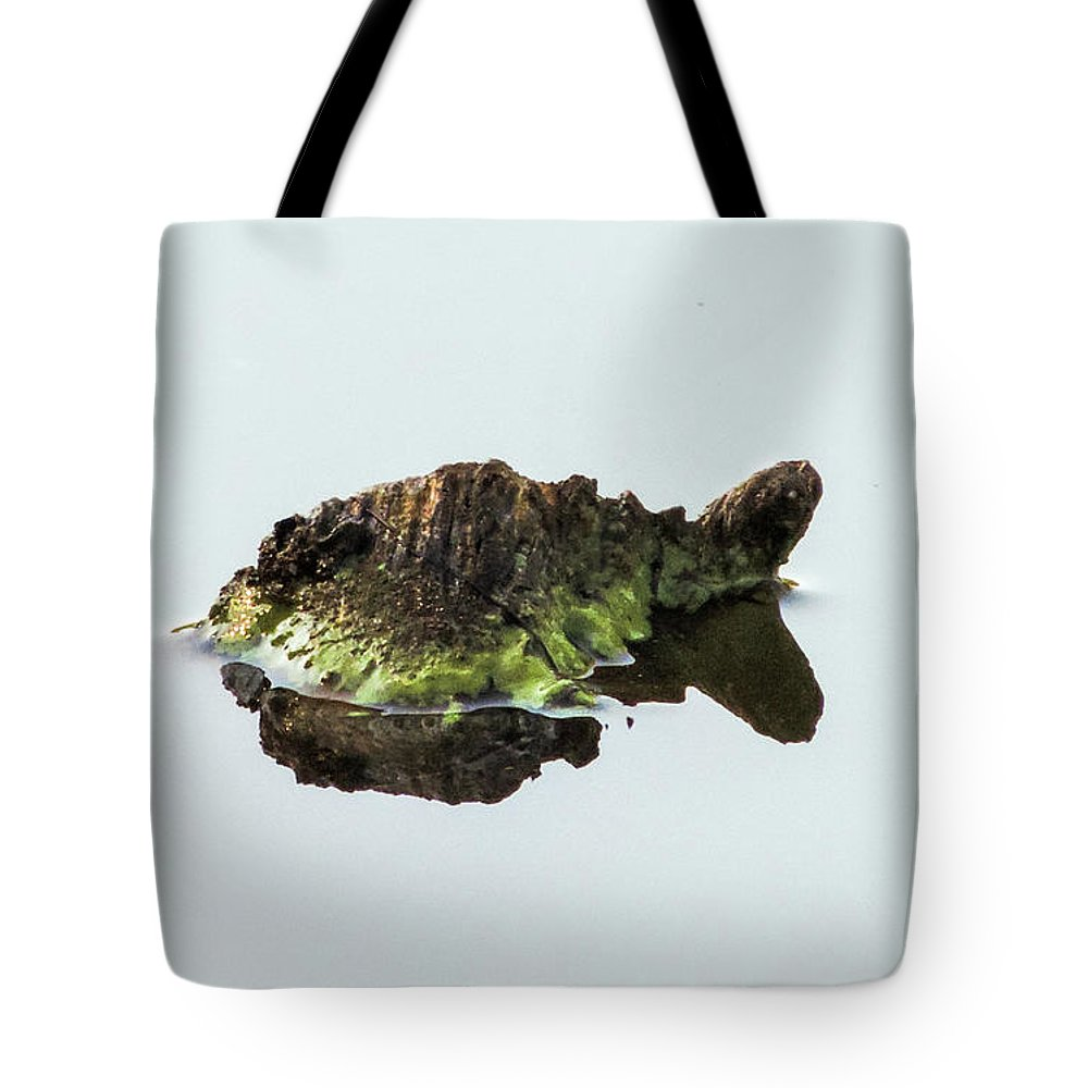 Turtle Tote Bag featuring the photograph Turtle or Mountain by Randy J Heath