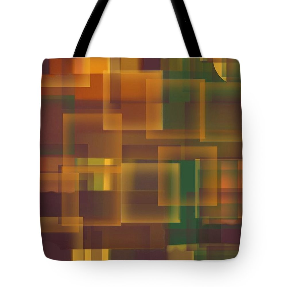 Squares Tote Bag featuring the painting Tuscan Tapestry by Vicki Lynn Sodora