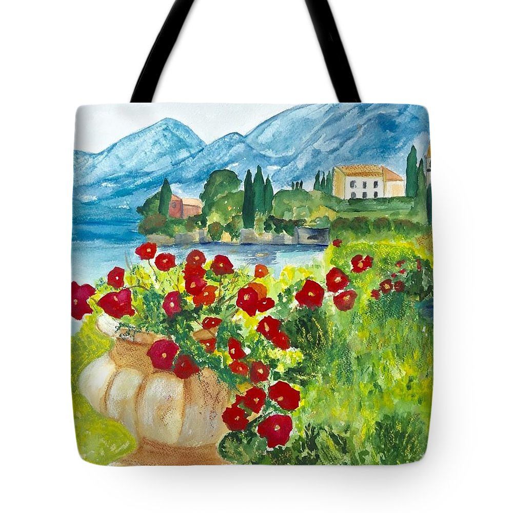 Landscape Tote Bag featuring the painting Tuscany by Denise Mc Nellis