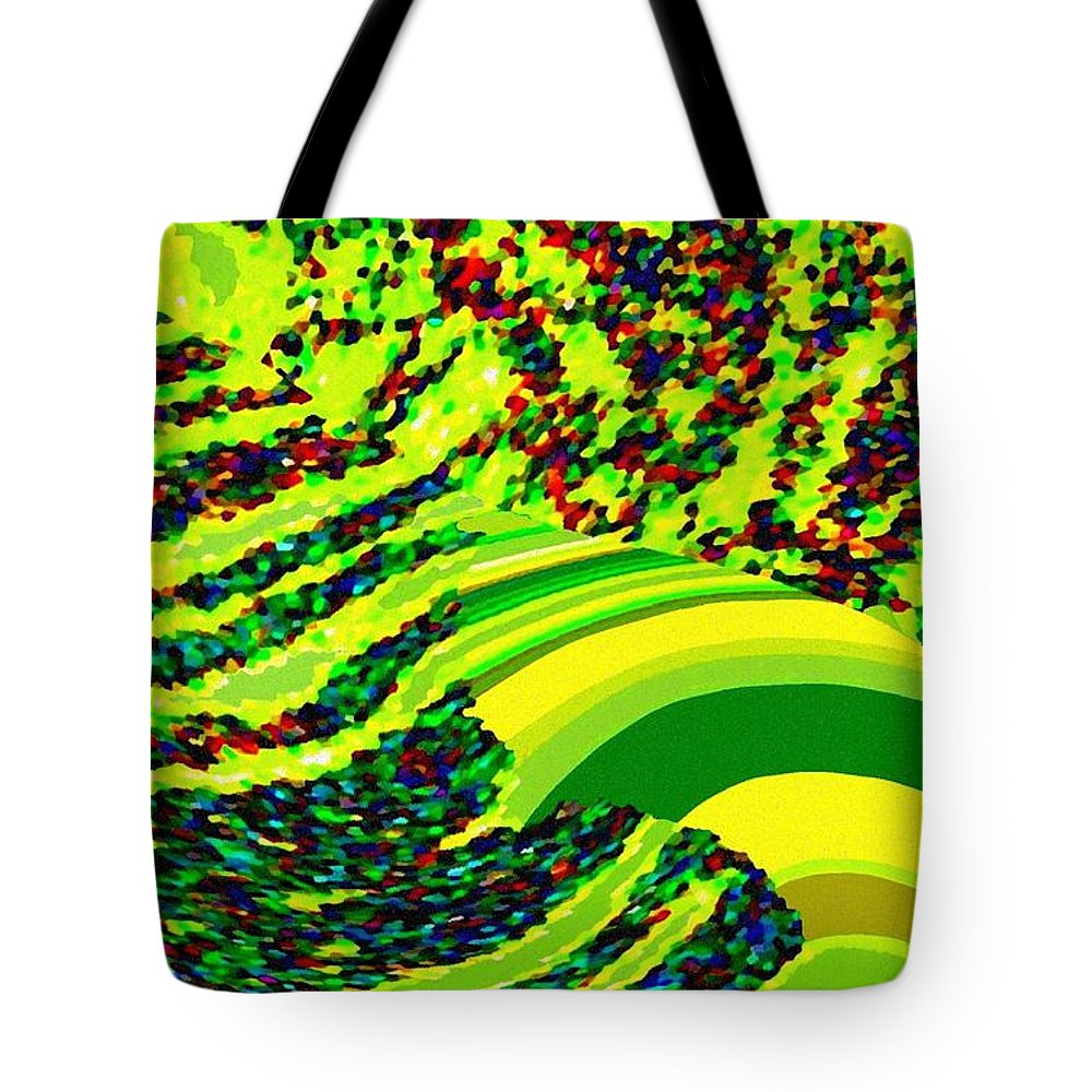 Abstract Tote Bag featuring the digital art Tuscany Hills by Will Borden