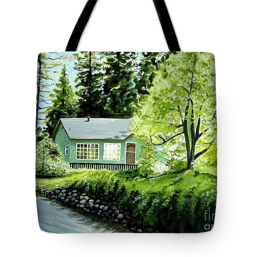 Landscape Tote Bag featuring the painting Twaine Harte by Elizabeth Robinette Tyndall