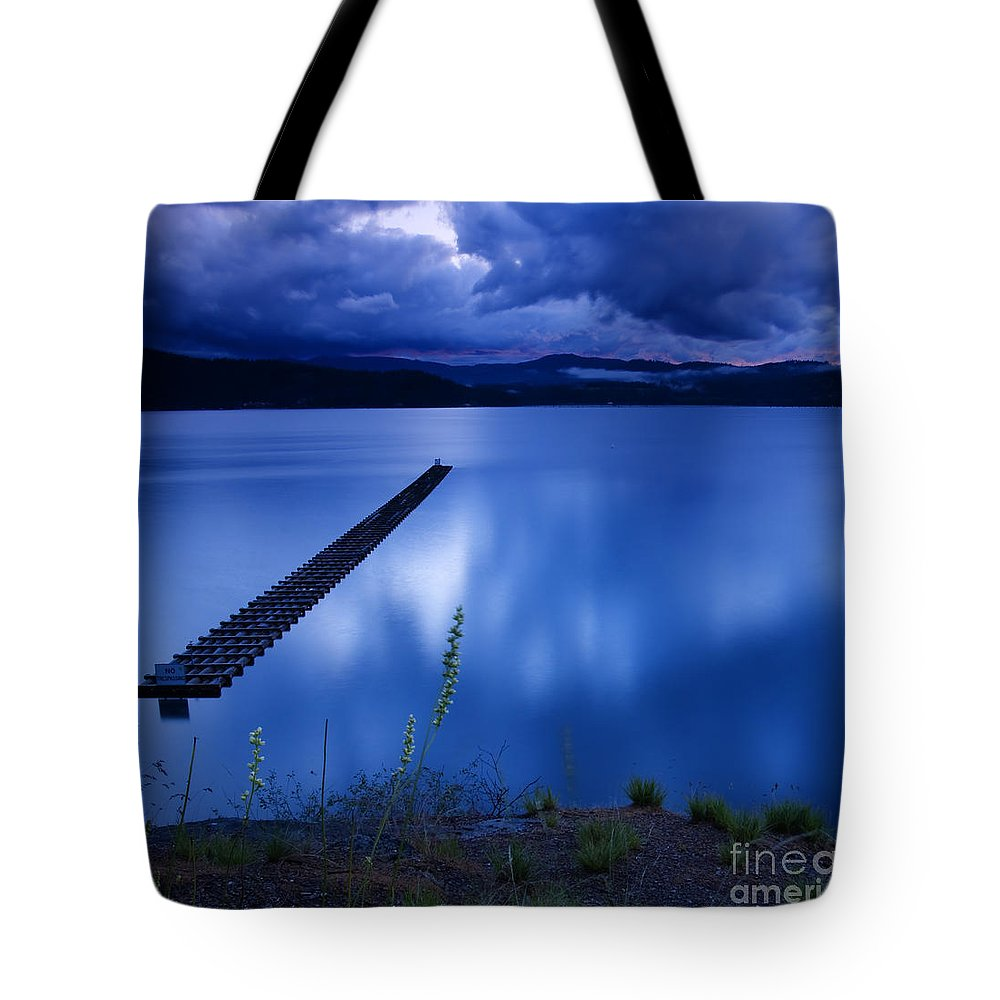 Blue Tote Bag featuring the photograph Twilight Blue by Idaho Scenic Images Linda Lantzy