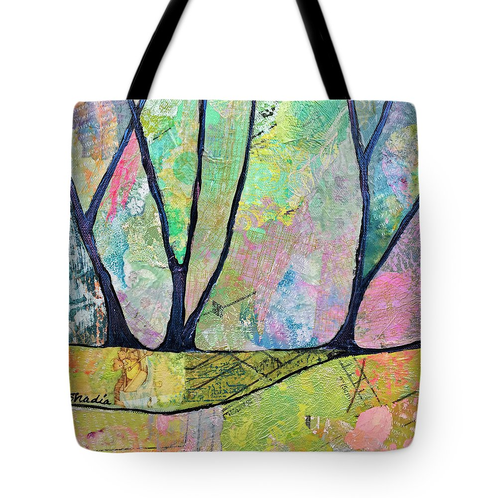Fall Tote Bag featuring the painting Twilight Iv by Shadia Derbyshire