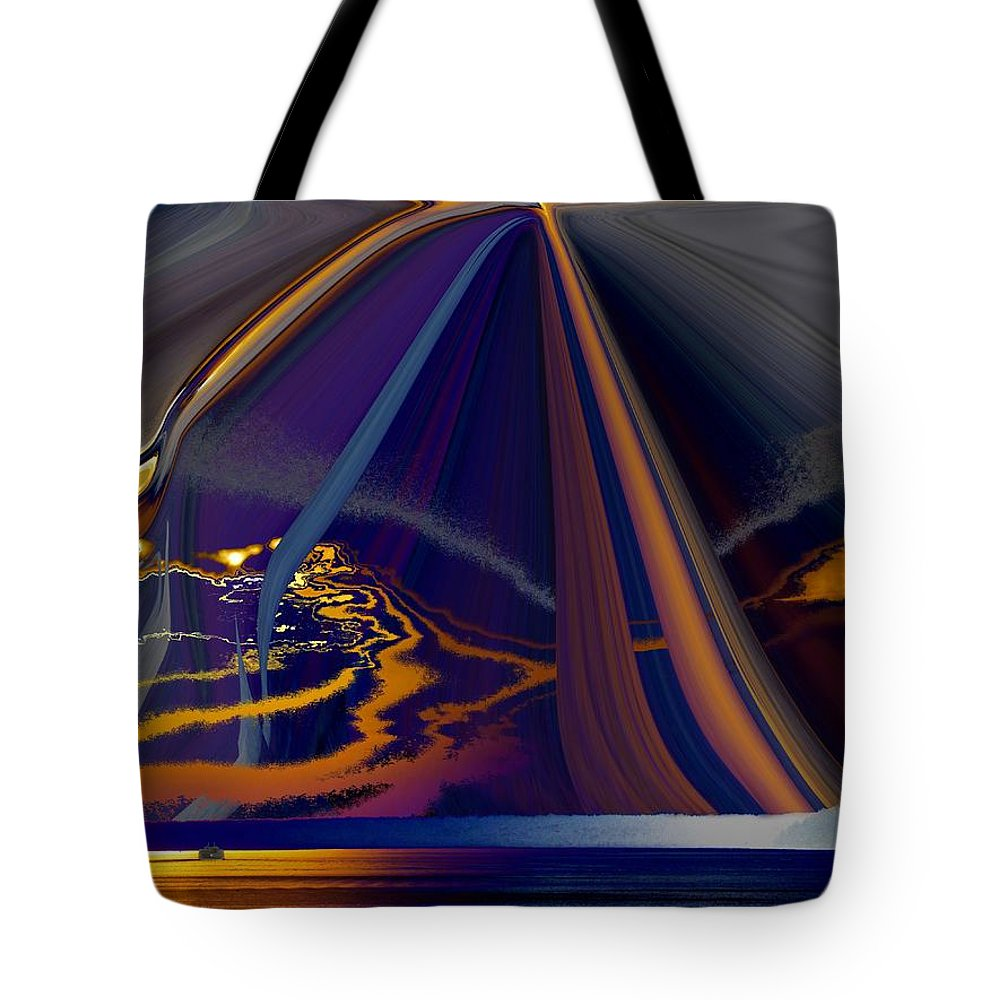 Abstract Tote Bag featuring the photograph Twilight Journey by Tim Allen