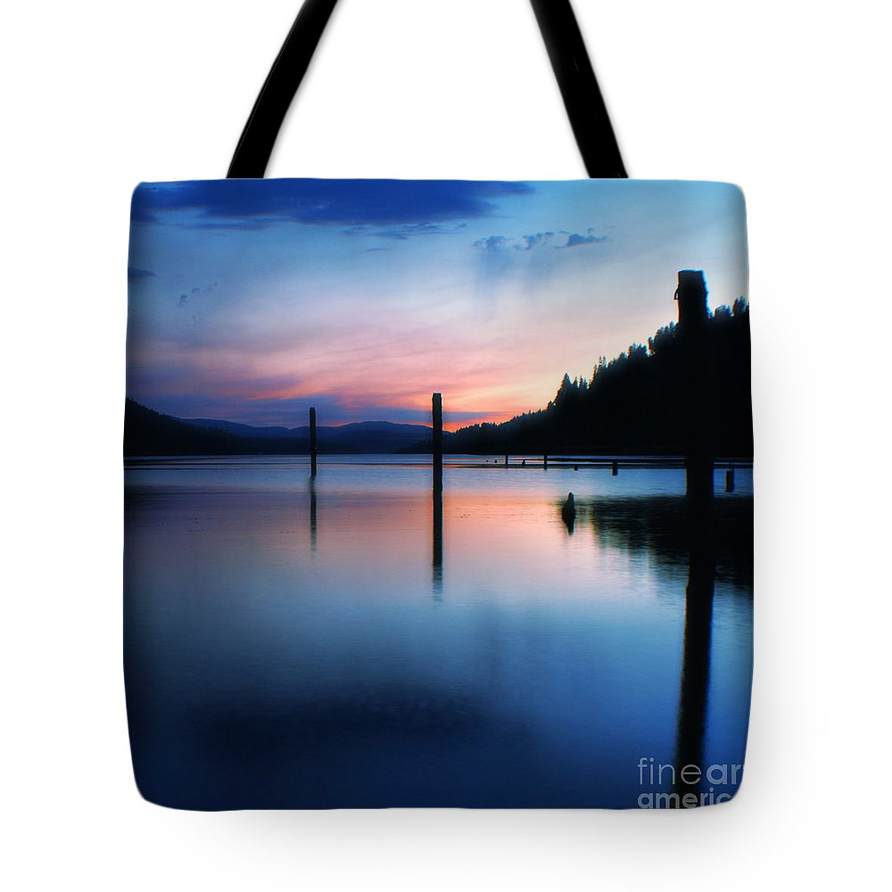Dusk Tote Bag featuring the photograph Twilight by Idaho Scenic Images Linda Lantzy