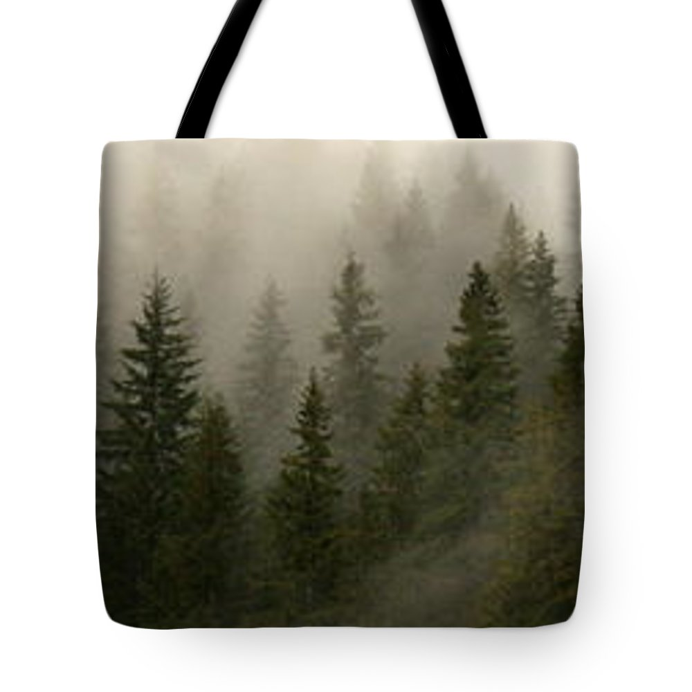 Forks Tote Bag featuring the photograph Twilight Mist by Carol Groenen
