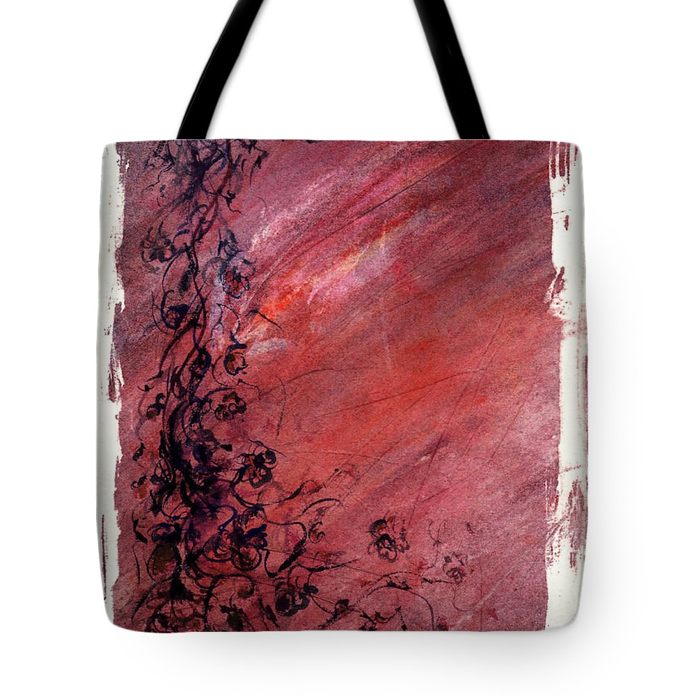 Floral Tote Bag featuring the painting Twilight Rose by Rachel Christine Nowicki