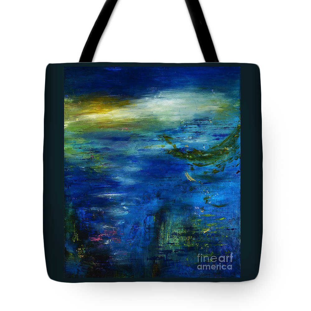 Ocean Tote Bag featuring the painting Twilight Waters by Vanessa Martin