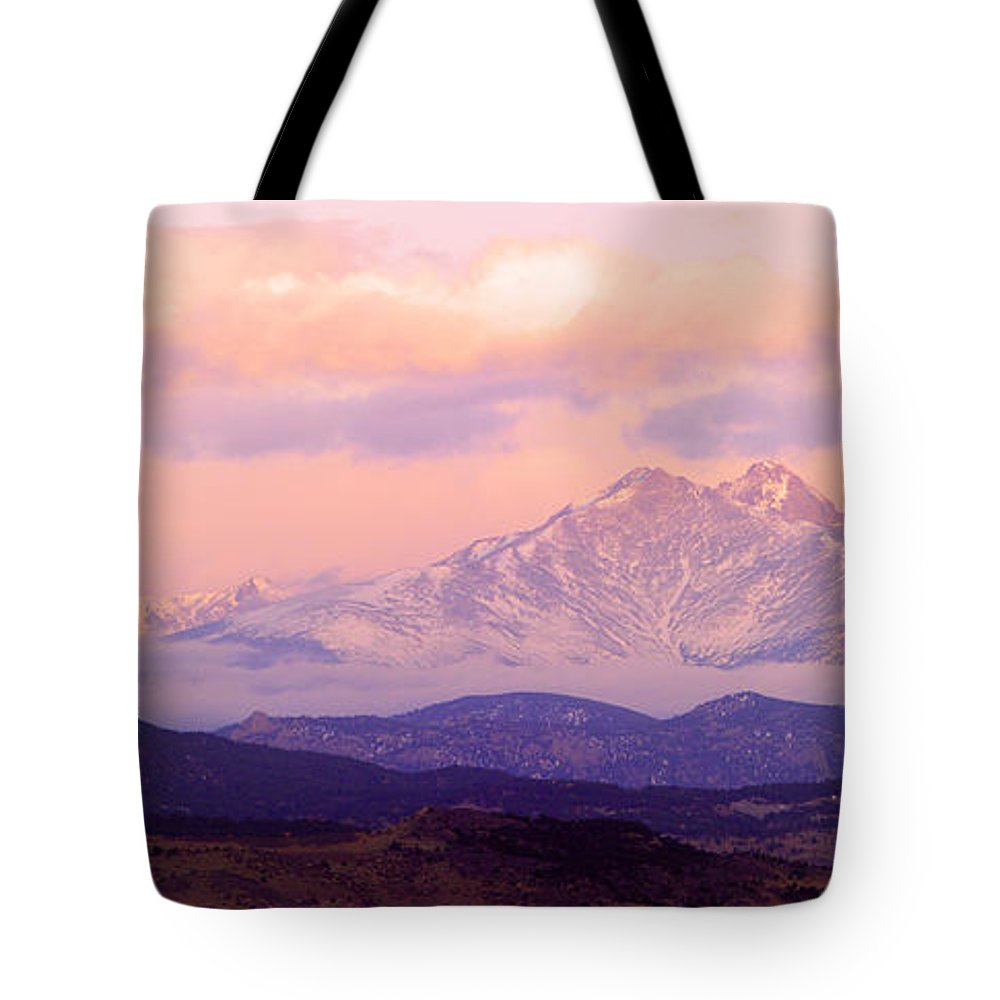 Twin Peaks Tote Bag featuring the photograph Twin Peaks Sunrise by James BO Insogna