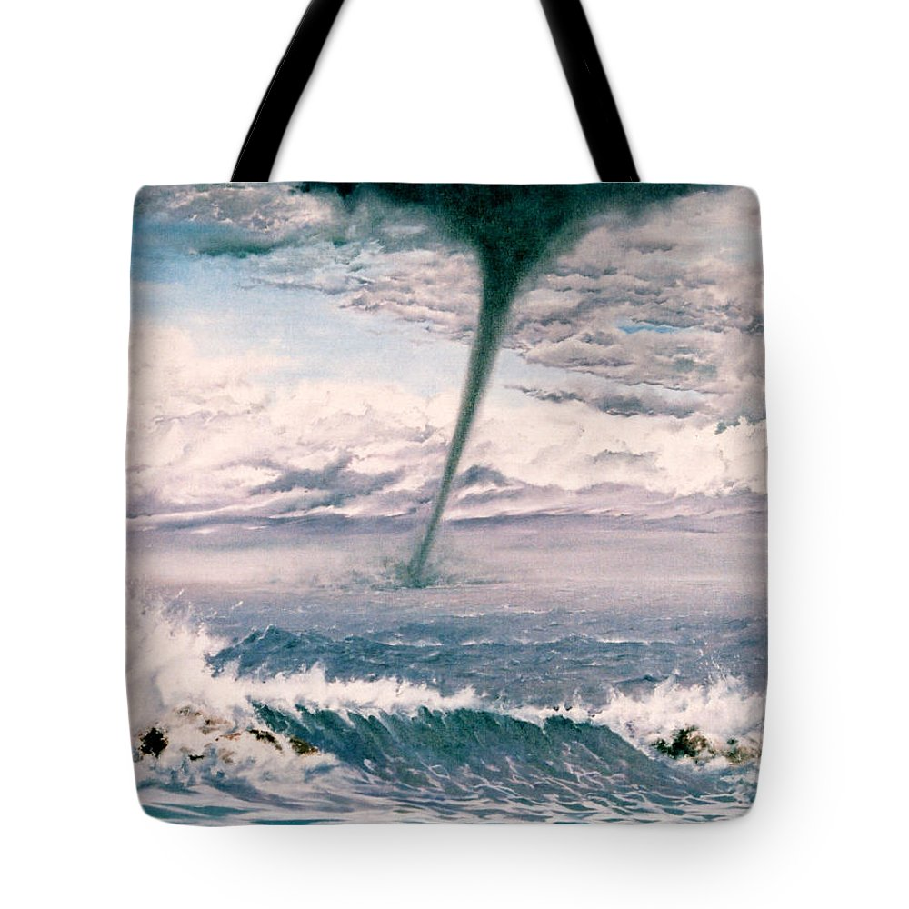 Seascape Tote Bag featuring the painting Twisted Nature by Mark Cawood