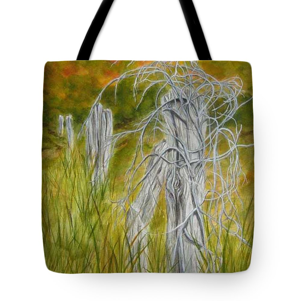 Landscape Tote Bag featuring the painting Twisted by Regan J Smith