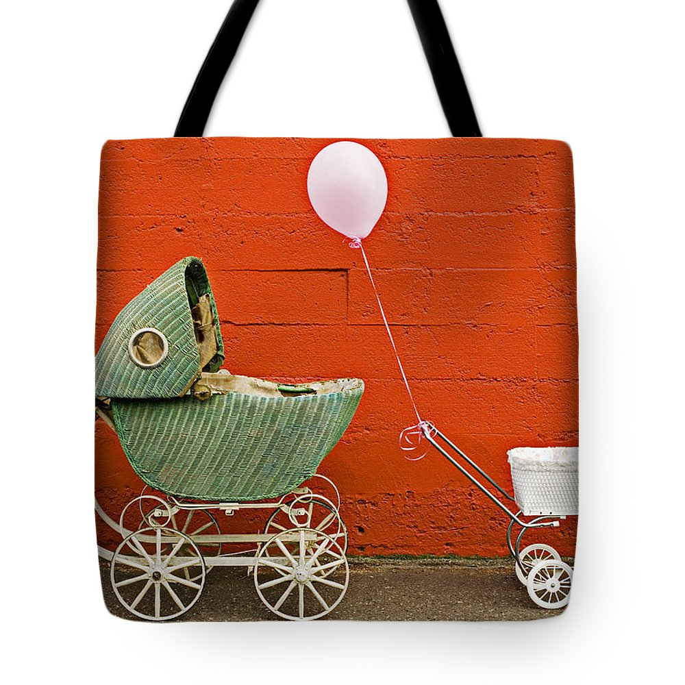 Baby Buggy Tote Bag featuring the photograph Two Baby Buggies by Garry Gay