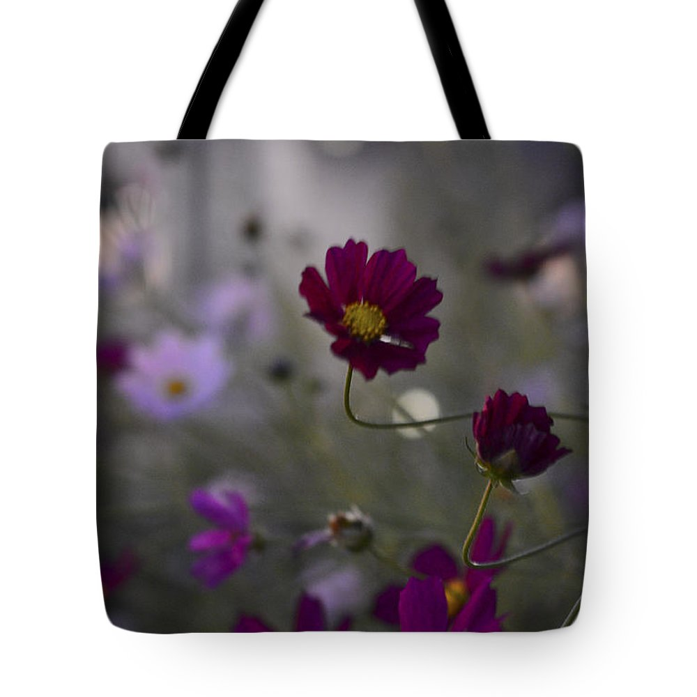 Flower Tote Bag featuring the photograph Two Bent Stems by Alana Boltwood