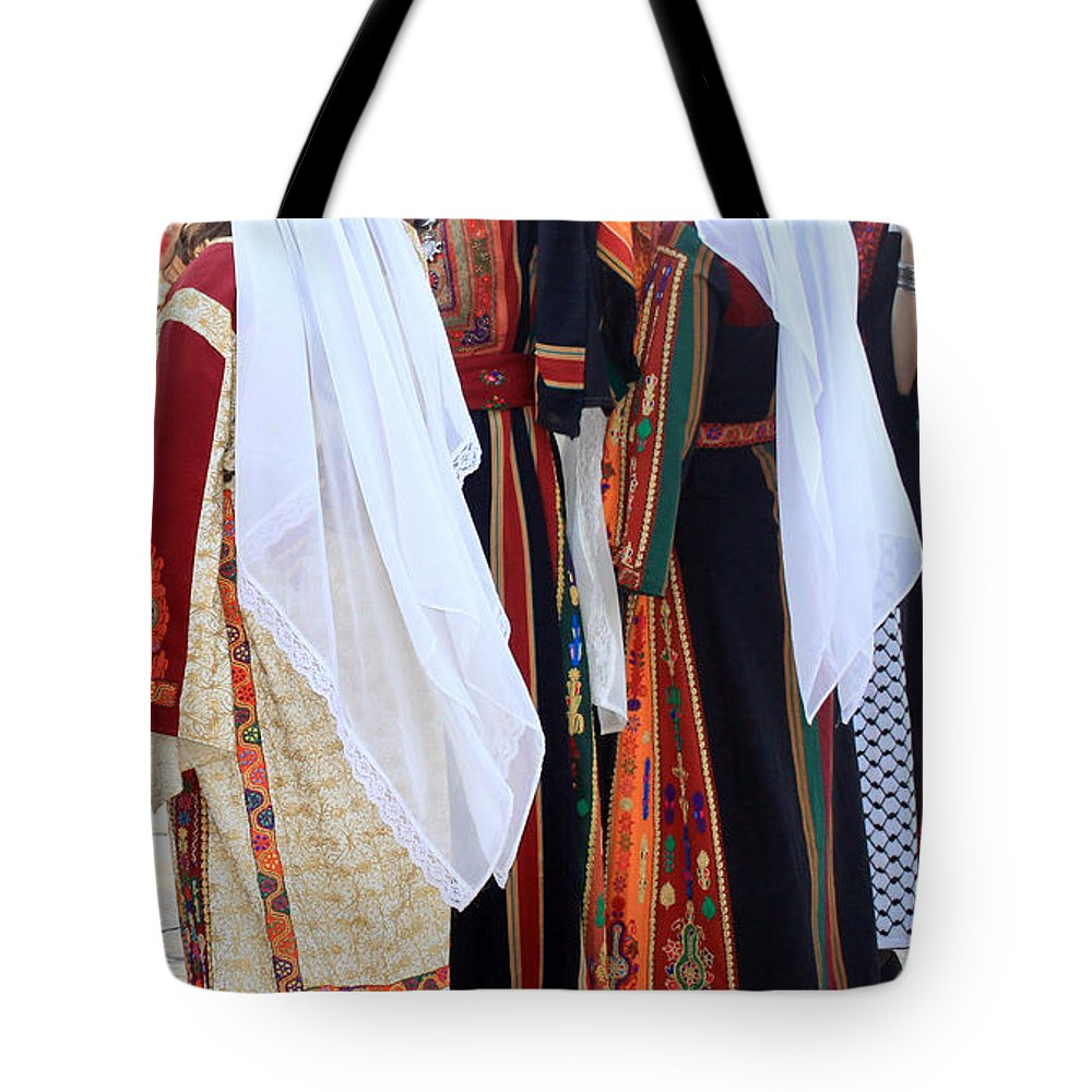 Palestine Tote Bag featuring the photograph Two By Two by Munir Alawi