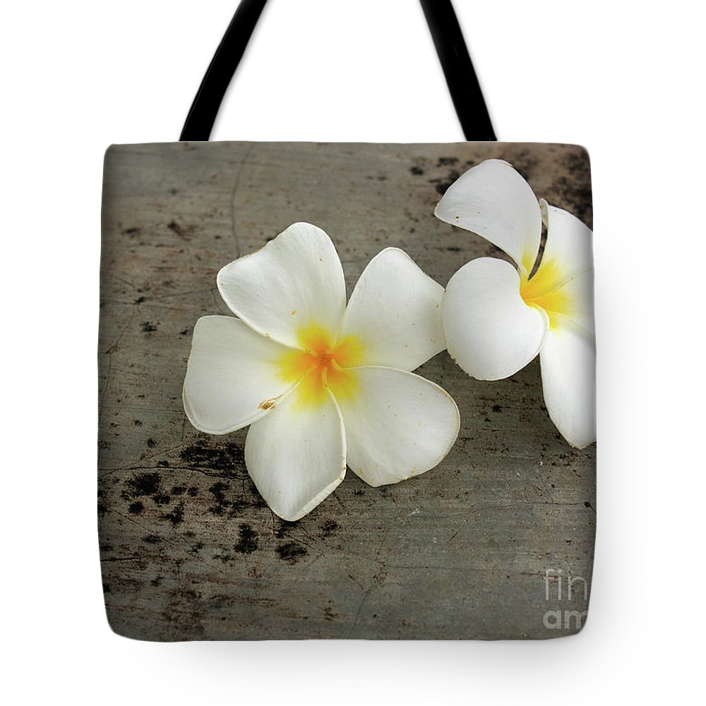 Color Image Tote Bag featuring the photograph Two Flowers by Arie Toursino