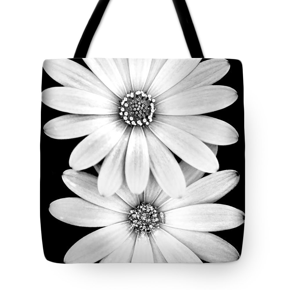 Spring Flowers Tote Bag featuring the photograph Two Flowers by Az Jackson