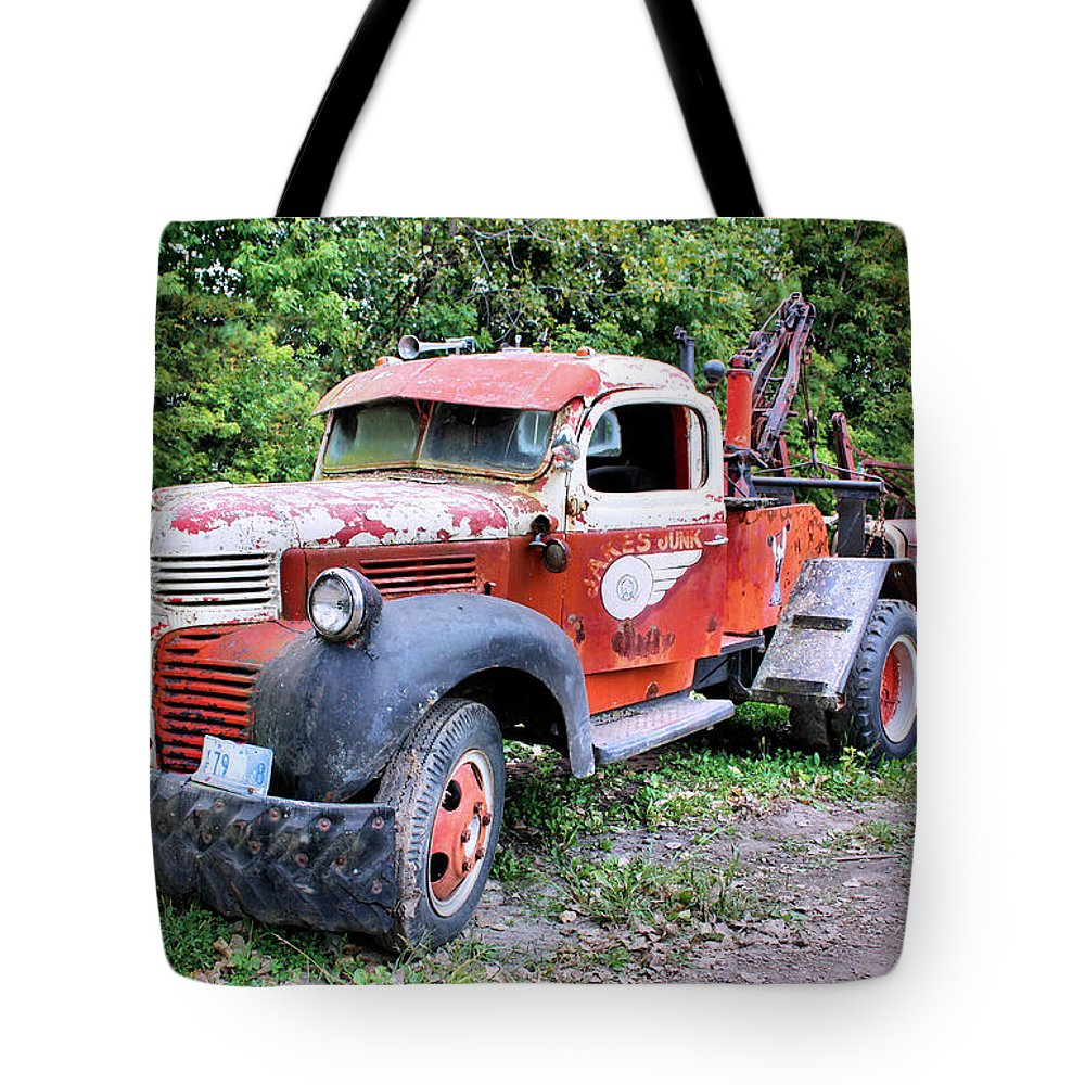 Old Truck Tote Bag featuring the photograph Two for One by Kristin Elmquist