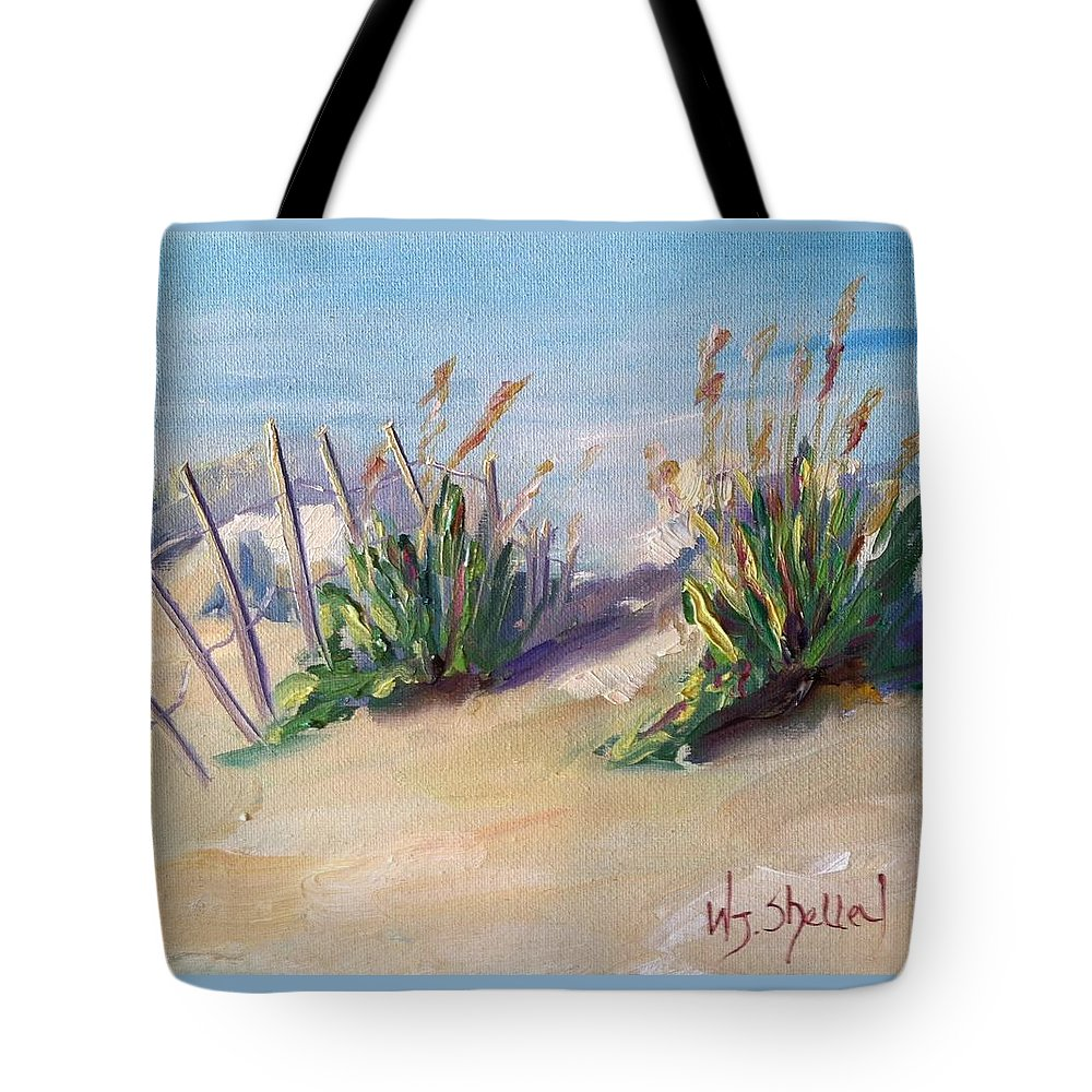 Myrtle Beach Tote Bag featuring the painting Two Friends by Wendy Shelley Studios