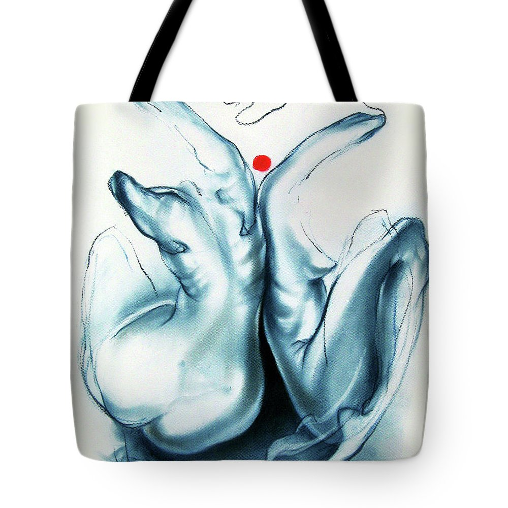 Female Bodies Tote Bag featuring the pastel Two Graces by Alexandra Duhlinska