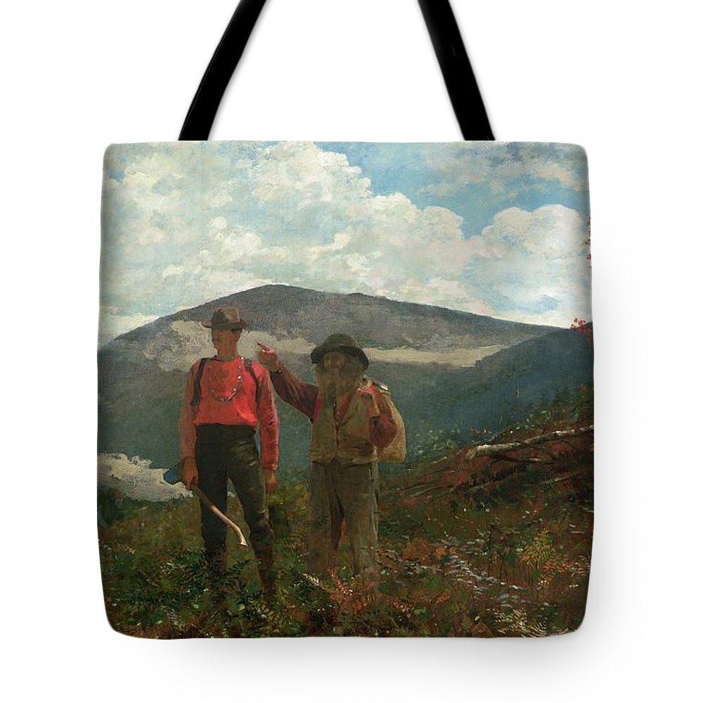 Two Guides Tote Bag featuring the painting Two Guides by Winslow Homer