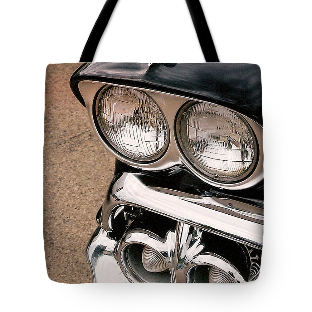 Headlights Tote Bag featuring the photograph Two Headlights by Lauri Novak