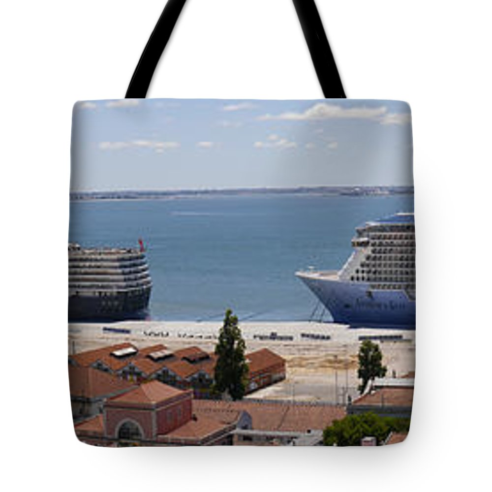 Lisbon Tote Bag featuring the photograph Magnificent Cruises by Brenda Kean