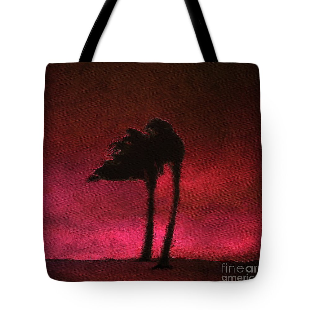 Landscape Tote Bag featuring the digital art Two Palms by Ethan Chodos