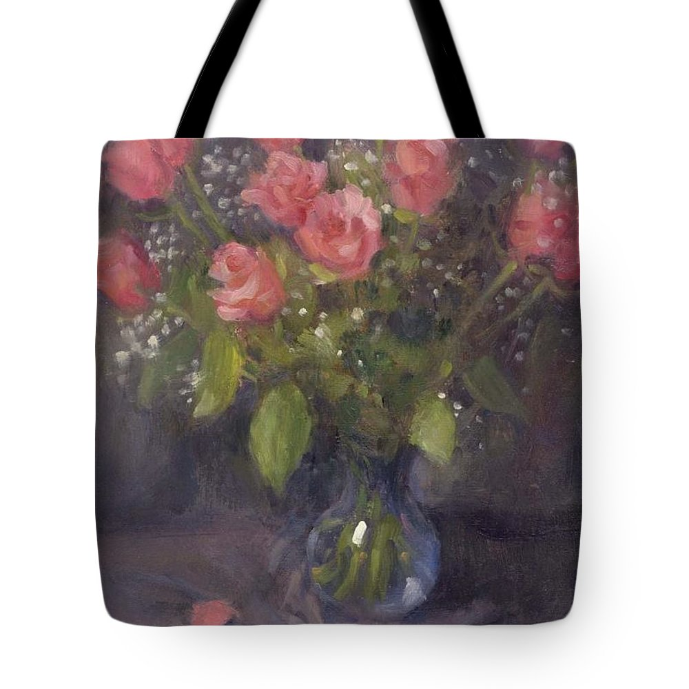 Flowers Tote Bag featuring the painting Two Petals by Michael Gillespie