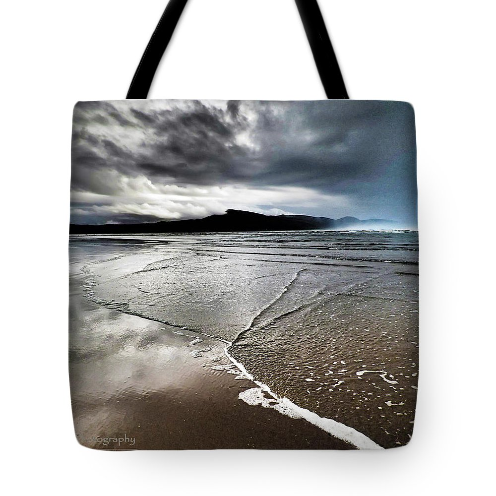 Beach Tote Bag featuring the photograph Two Skies by Stephanie McGuire
