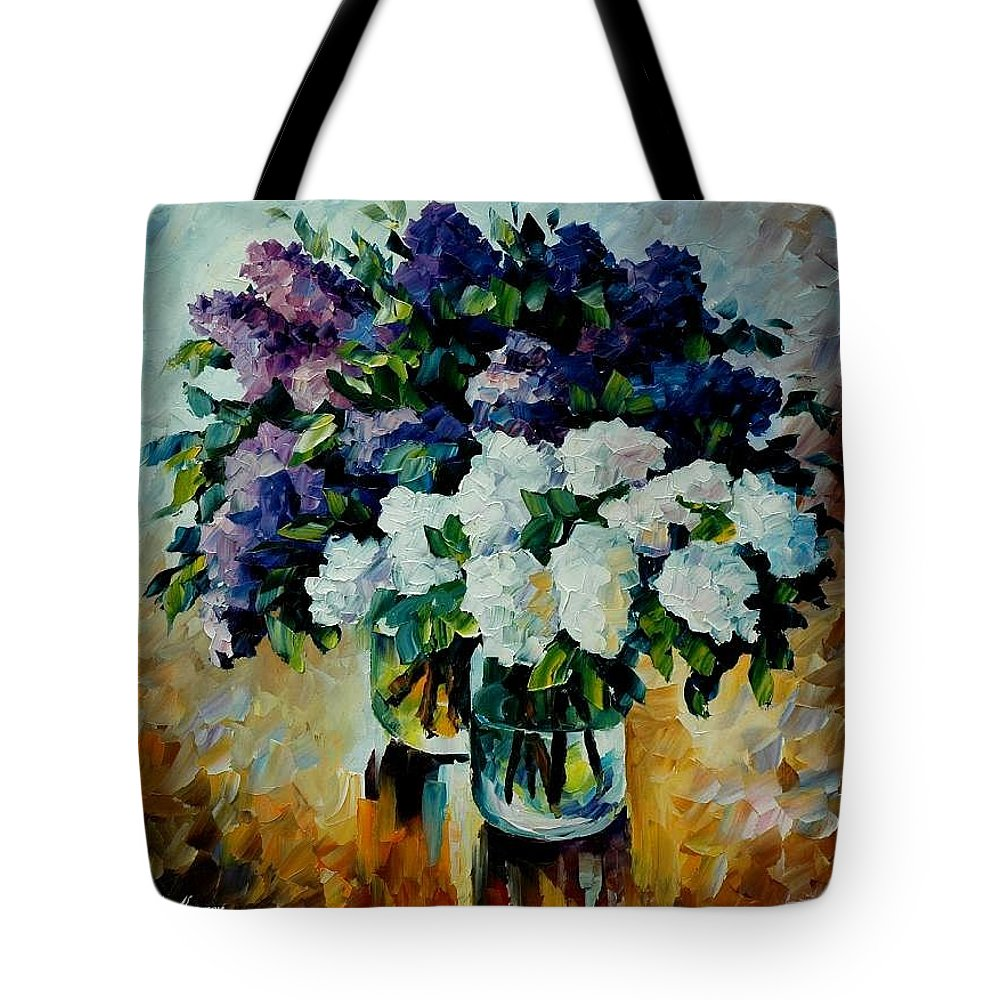 Painting Tote Bag featuring the painting Two Spring Colors by Leonid Afremov