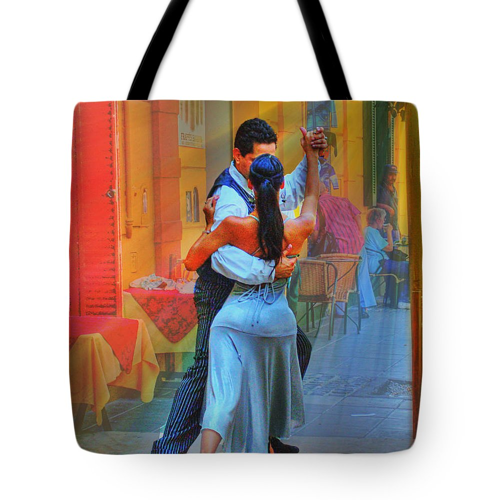 Dance Tote Bag featuring the photograph Two Tango by Francisco Colon