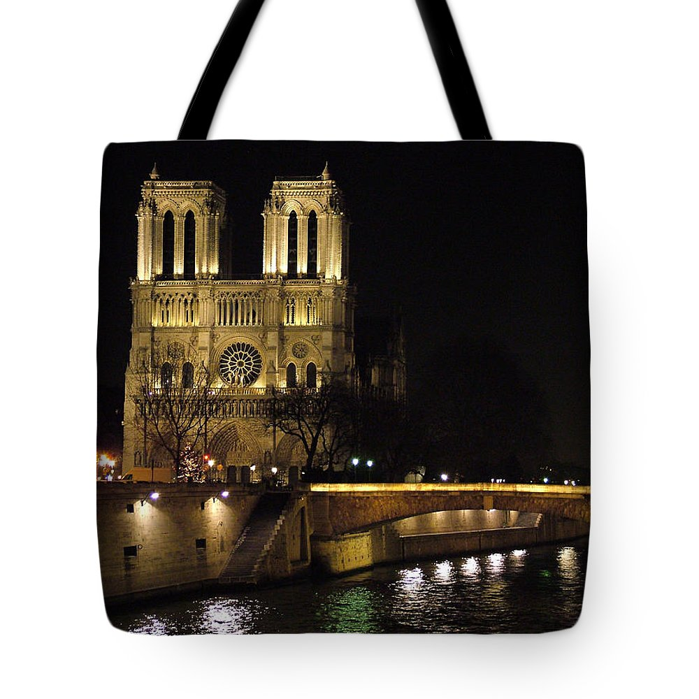Two Tote Bag featuring the photograph Two Towers Of Notre Dame by Donna Corless