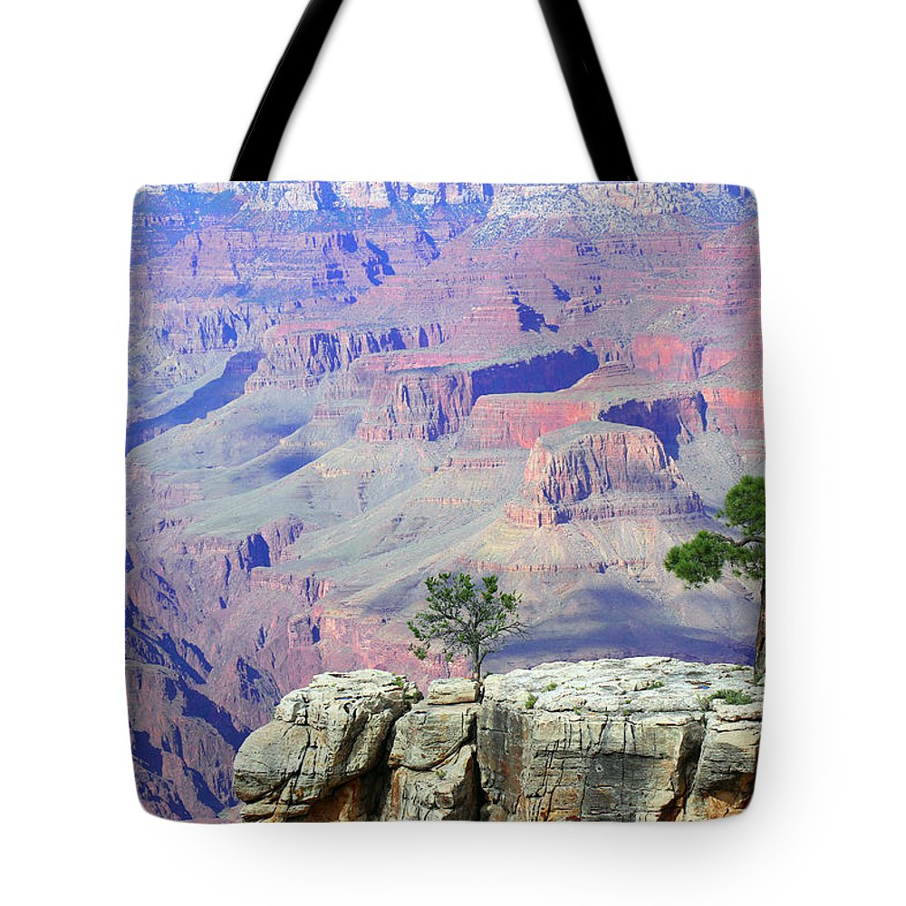 Grand Canyon National Park Tote Bag featuring the photograph Two Tree Rock by Iryna Goodall