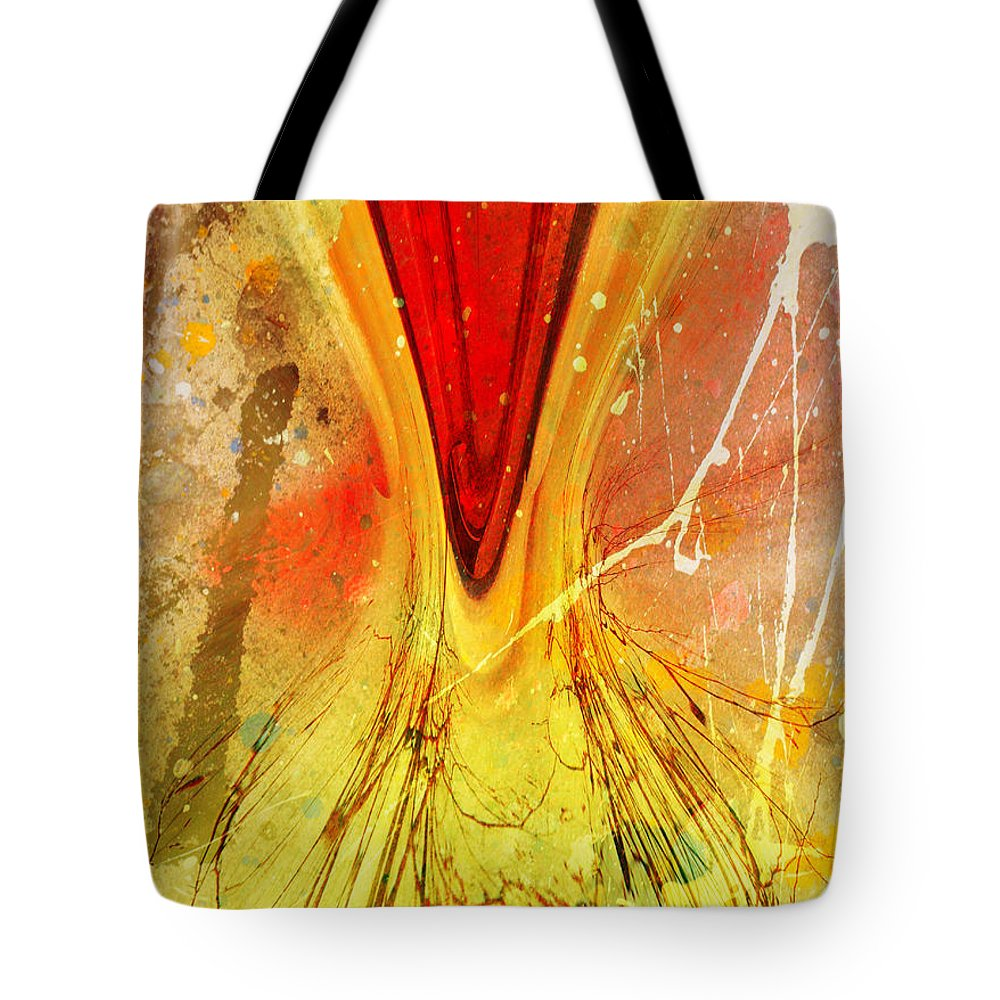 Art Tote Bag featuring the digital art Two Trees by Tara Turner