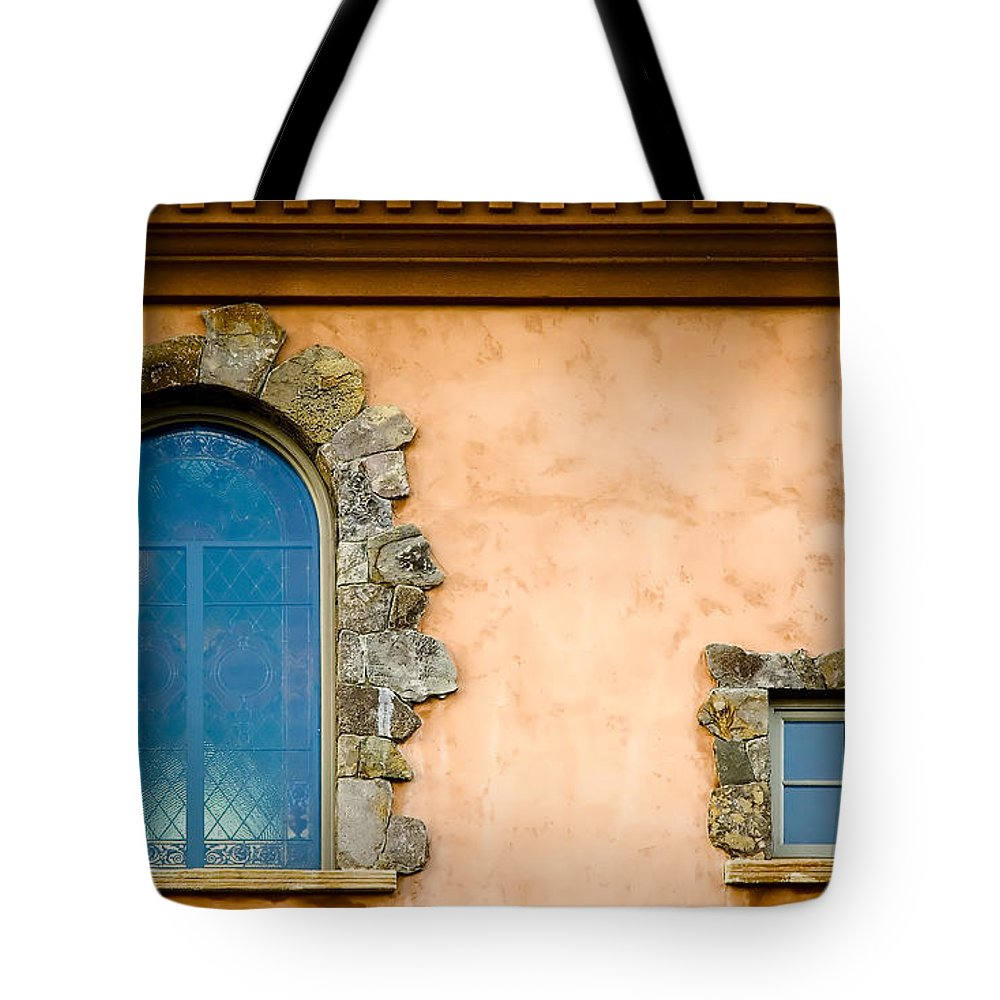 Windows Tote Bag featuring the photograph Two Windows by Mick Burkey