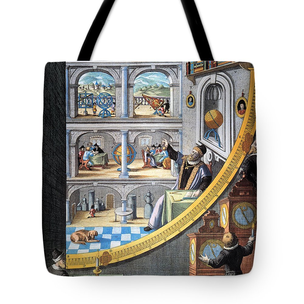 16th Century Tote Bag featuring the photograph Tycho Brahe (1546-1601) by Granger