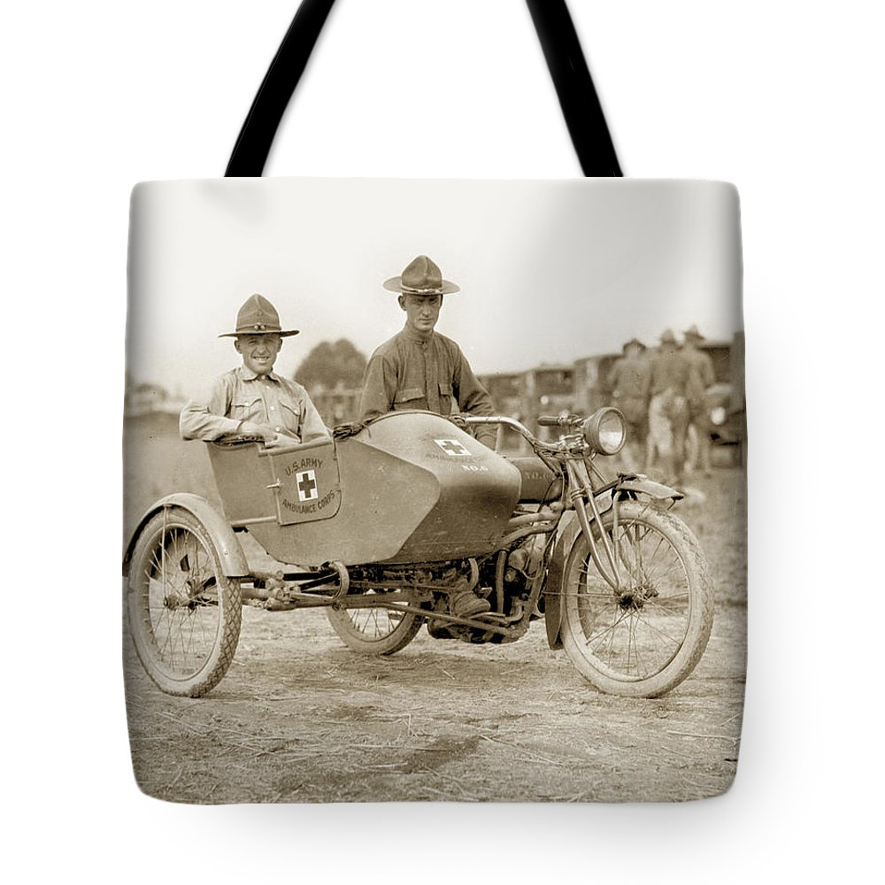U  S  Army Motorcycle Ambulance Corps Ww I 1918 Tote Bag