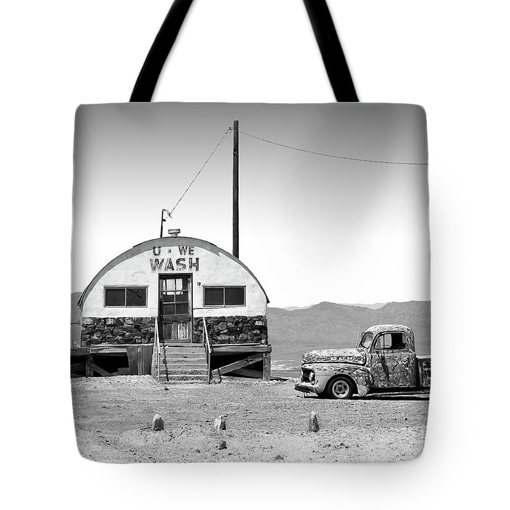 Death Valley Tote Bag featuring the photograph U - We Wash - Death Valley by Mike McGlothlen