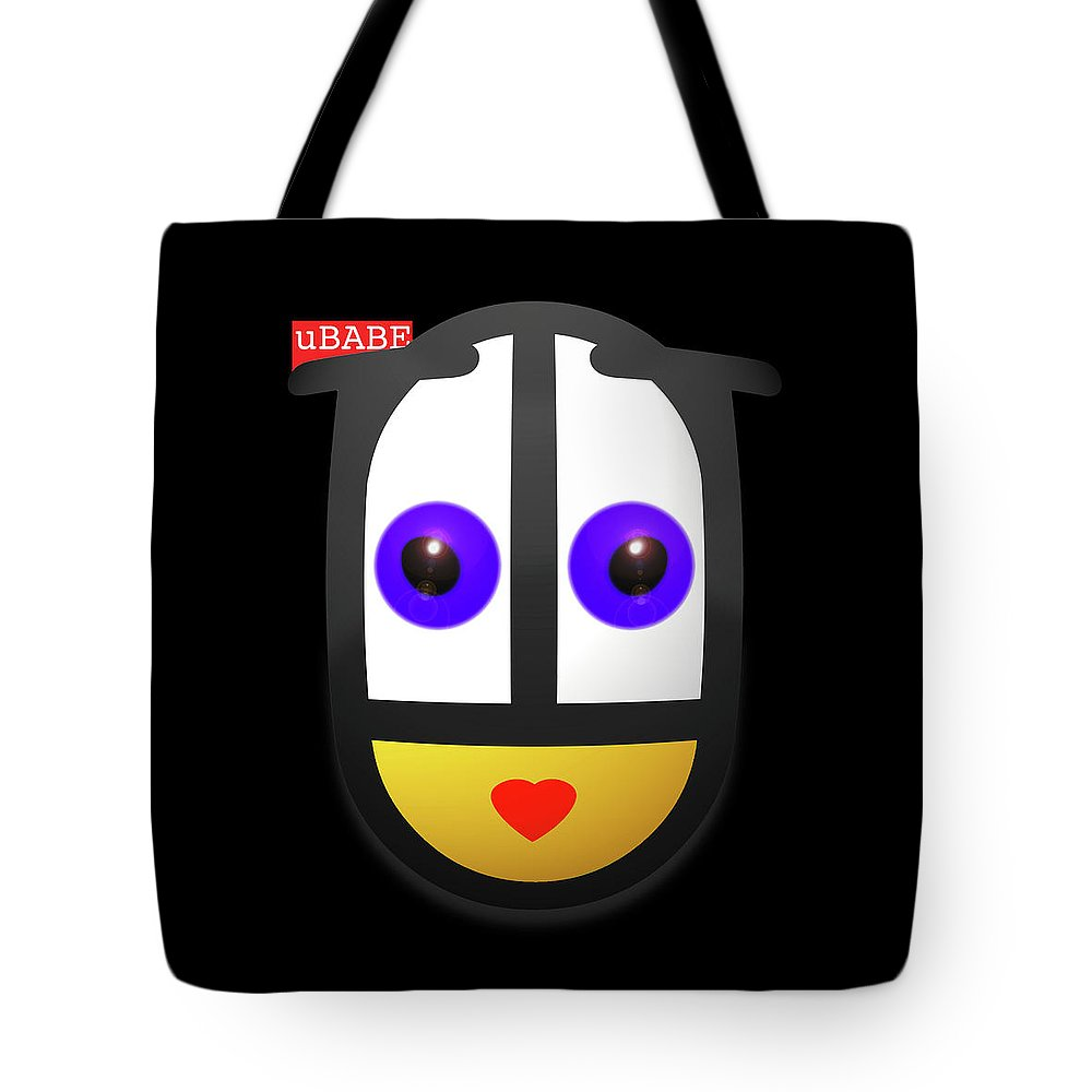 Ubabe Tote Bag featuring the painting uBABE In The Night by Charles Stuart