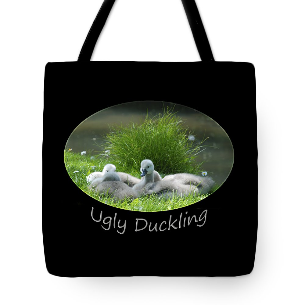 Swan Tote Bag featuring the photograph Ugly Duckling by Richard Gibb