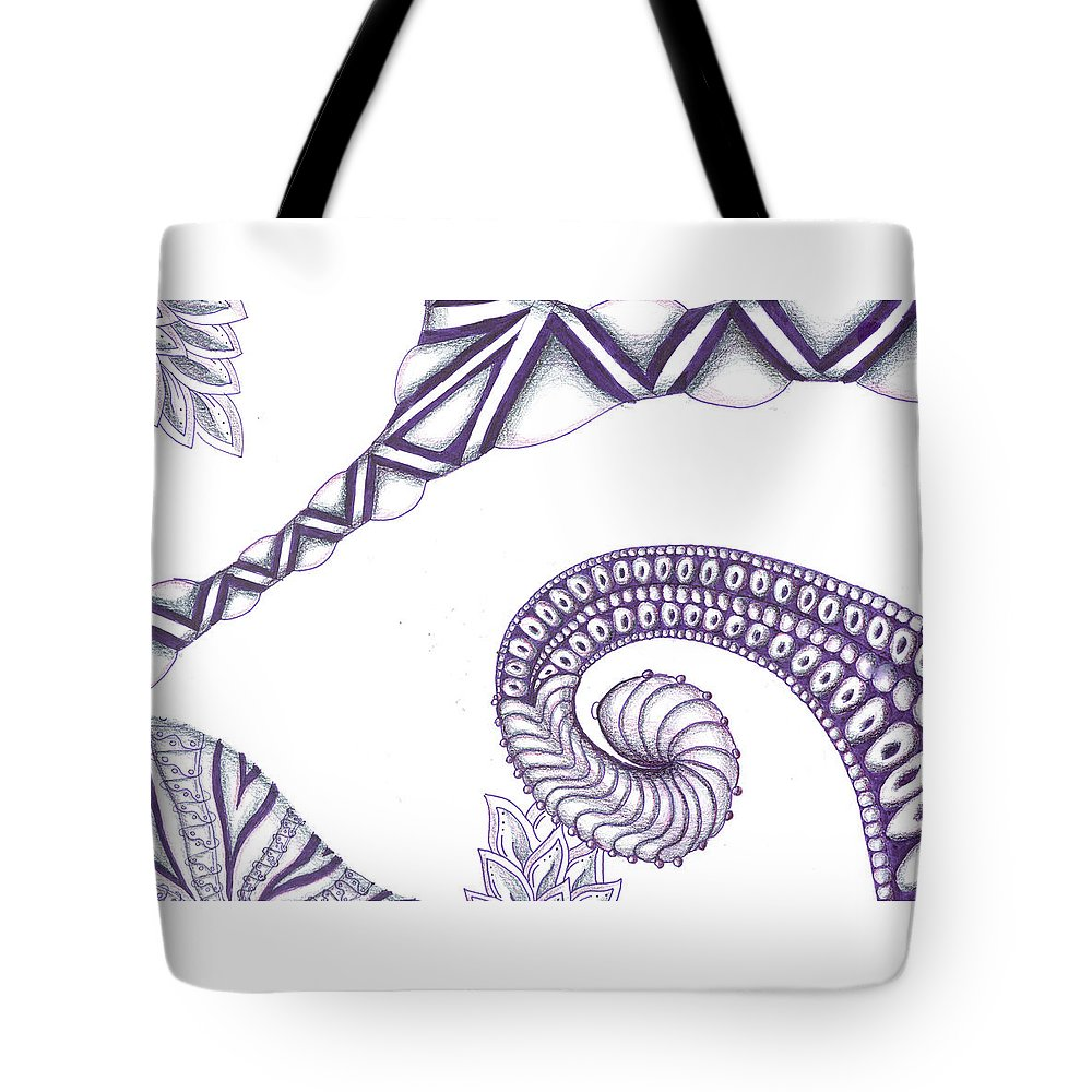Cannabis Tote Bag featuring the mixed media Ugly Stepsister by Kitty Perkins