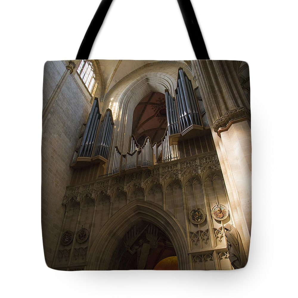 Ron Jones Tote Bag featuring the photograph Ulm Cathedral by Ron Jones