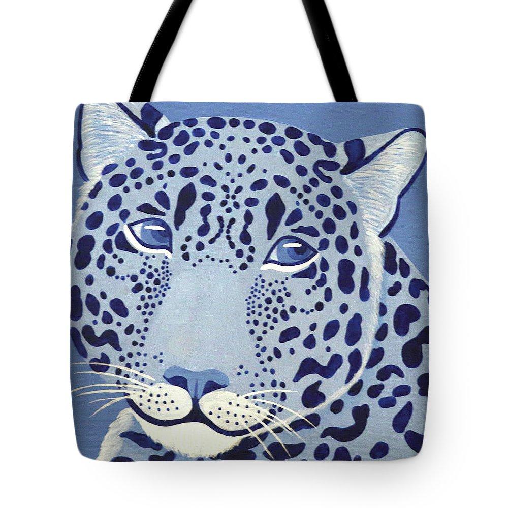 Ultramarine Jaguar Tote Bag