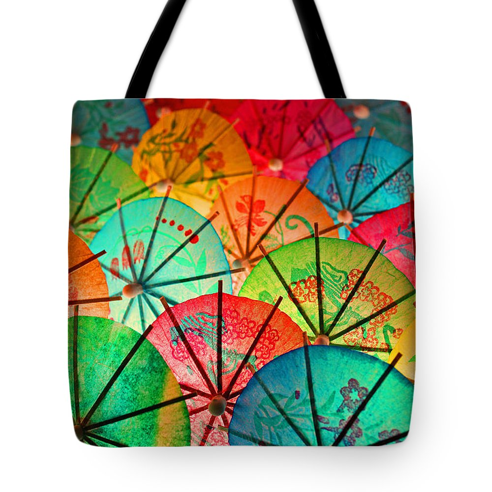 Mini Tote Bag featuring the photograph Umbrellas Galore by Bobby Villapando