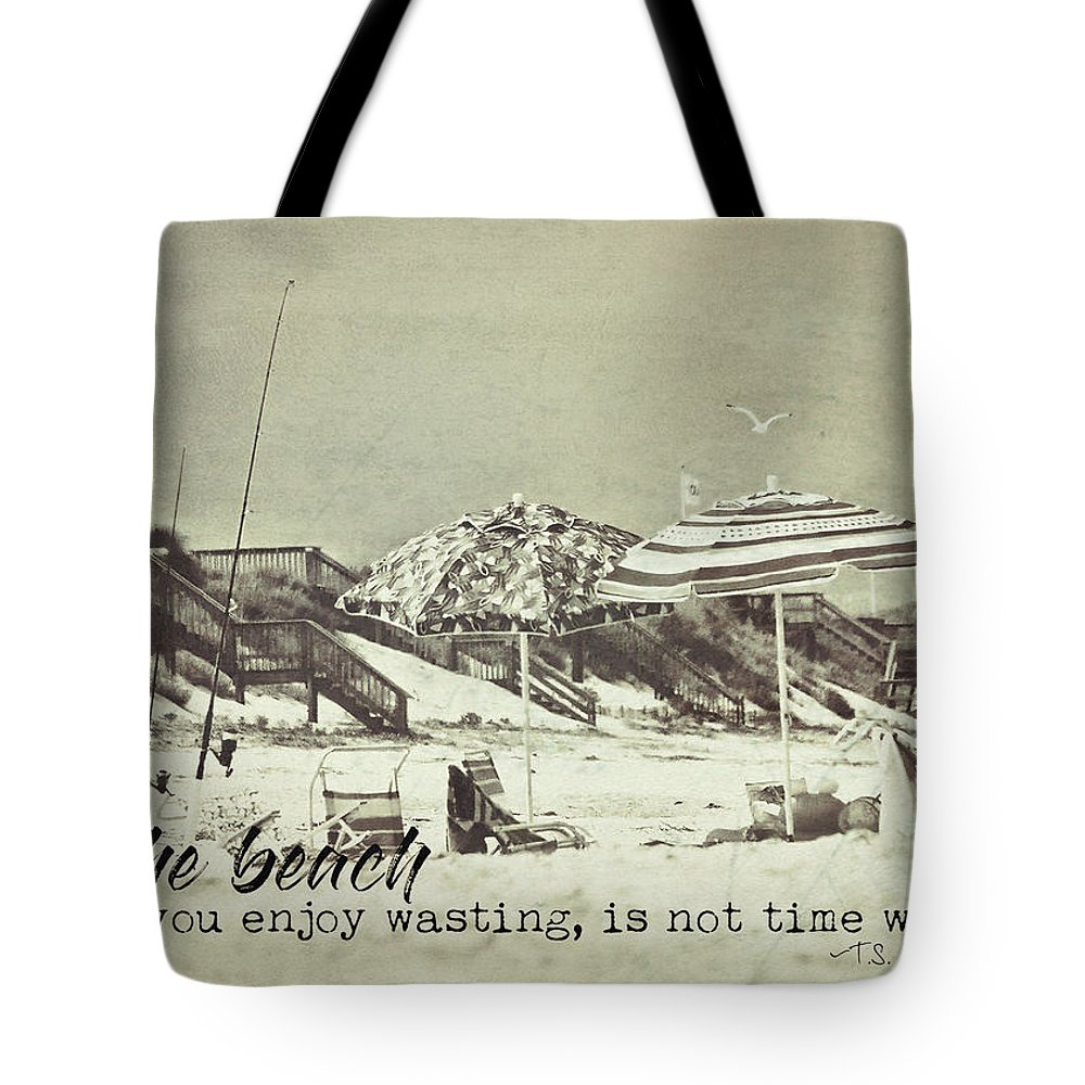 Umbrella Tote Bag featuring the photograph Umbrellas Quote by JAMART Photography