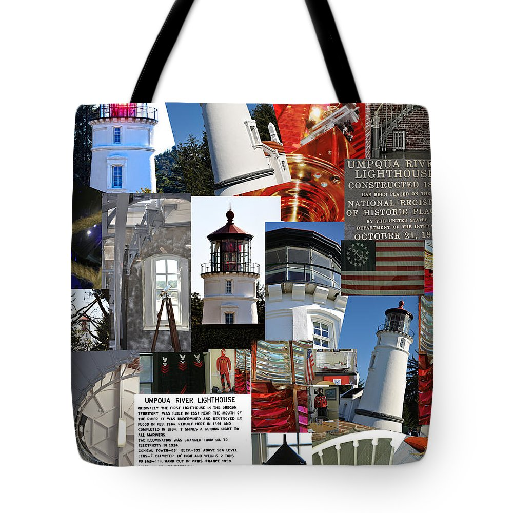 Umpqua Lighthouse Tote Bag featuring the photograph Umpqua River Lighthouse Collection by Image Takers Photography LLC - Laura Morgan and Carol Haddon